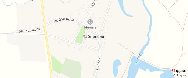 Улица Базы на карте села Тайняшево с номерами домов