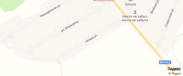 Новая улица на карте села Кариево с номерами домов