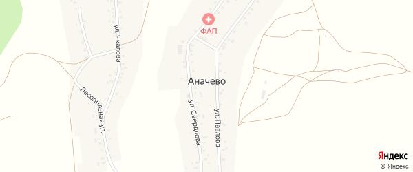 Улица Свердлова на карте деревни Аначево с номерами домов