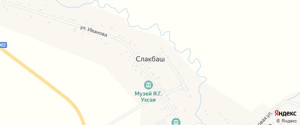 Тупиковая улица на карте села Слакбаша с номерами домов