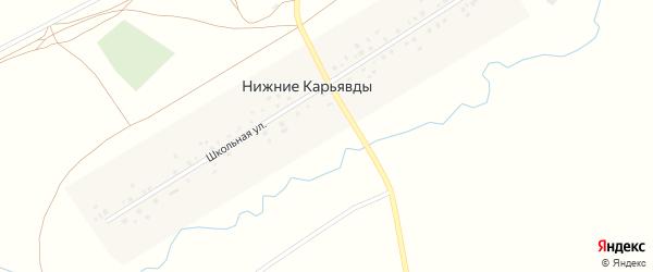 Улица Закария Нурлыгаянова на карте села Нижние Карьявды с номерами домов