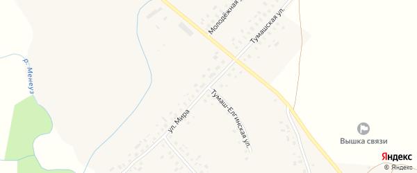 Улица Мира на карте села Усак-Кичу с номерами домов
