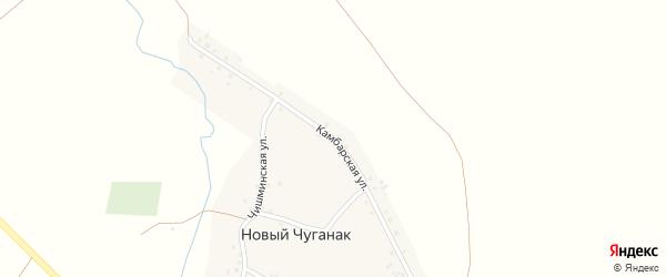 Камбарская улица на карте деревни Нового Чуганака с номерами домов
