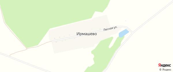 Лесная улица на карте деревни Ирмашево с номерами домов