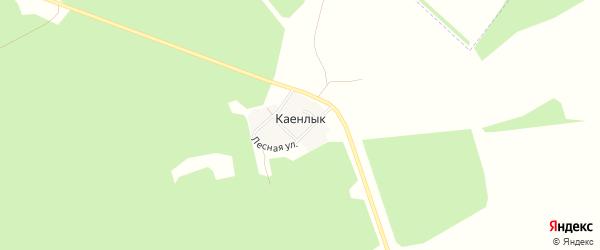 Карта деревни Каенлыка в Башкортостане с улицами и номерами домов