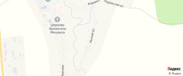 Речная улица на карте села Слакбаша с номерами домов