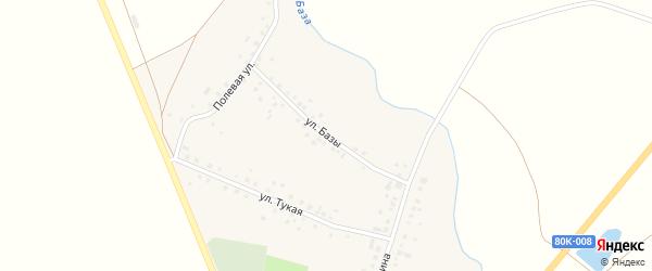 Улица Базы на карте села Новобалтачево с номерами домов