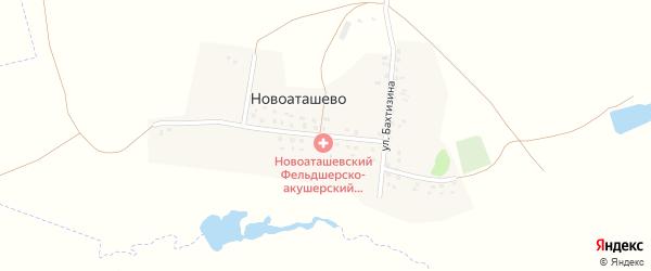 Улица Бахтизина на карте деревни Новоаташево с номерами домов