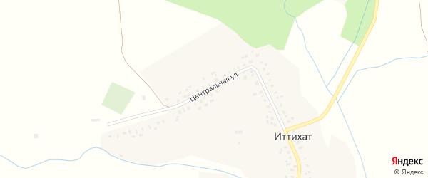 Школьный переулок на карте деревни Иттихата с номерами домов
