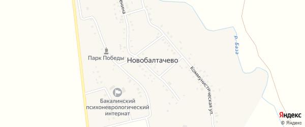 Молодежная улица на карте села Новобалтачево с номерами домов