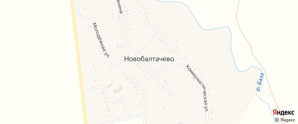 Улица Мира на карте села Новобалтачево с номерами домов
