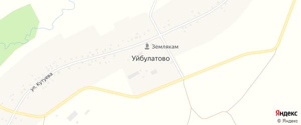Улица Кутуева на карте села Уйбулатово с номерами домов