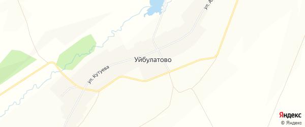 Карта села Уйбулатово в Башкортостане с улицами и номерами домов