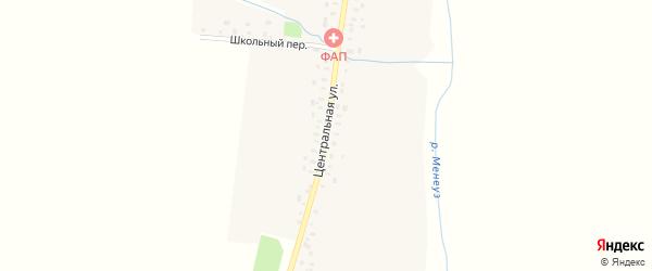 Центральная улица на карте деревни Иттихата с номерами домов