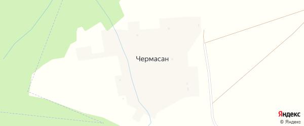 Лесная улица на карте деревни Чермасана с номерами домов