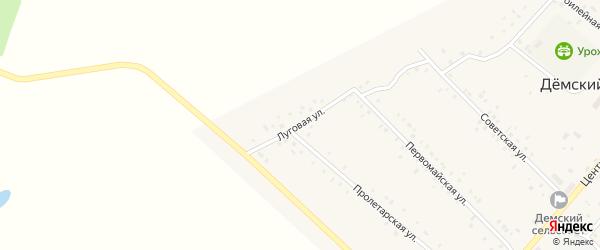 Луговая улица на карте села Демского с номерами домов