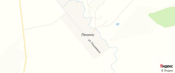 Карта деревни Ленино в Башкортостане с улицами и номерами домов