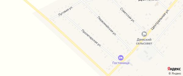 Пролетарская улица на карте села Демского с номерами домов