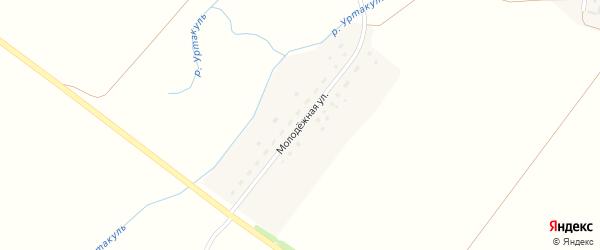 Молодежная улица на карте села Уртакуля с номерами домов
