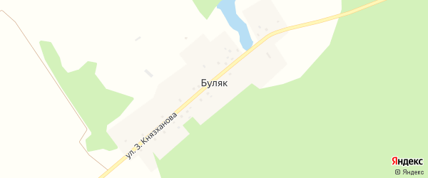 Улица Ленина на карте деревни Буляка с номерами домов