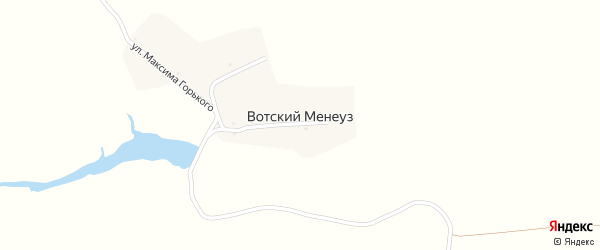 Улица М.Горького на карте деревни Вотского Менеуза с номерами домов
