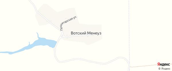 Пролетарская улица на карте деревни Вотского Менеуза с номерами домов