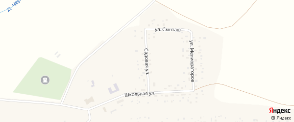 Садовая улица на карте села Канлы-Туркеево с номерами домов