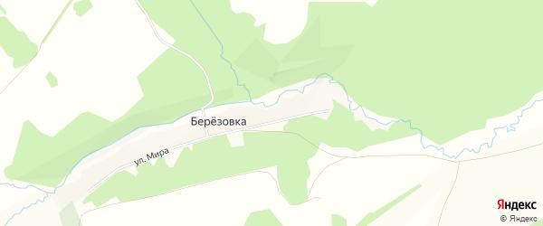 Карта деревни Березовки в Башкортостане с улицами и номерами домов