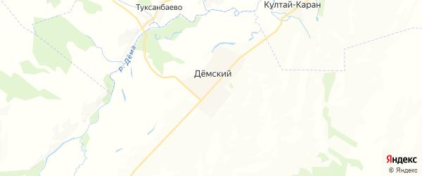 Карта Кенгера-Менеузовского сельсовета республики Башкортостан с районами, улицами и номерами домов