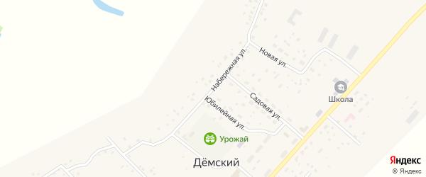 Набережная улица на карте села Демского с номерами домов