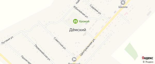 Подгорная улица на карте села Демского с номерами домов