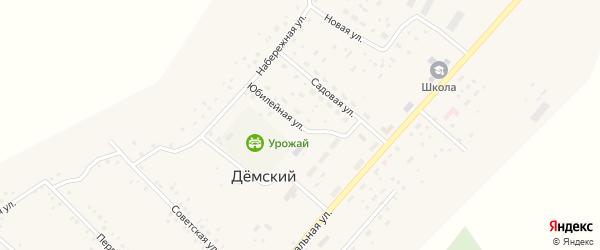 Юбилейная улица на карте села Демского с номерами домов