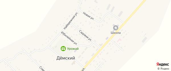 Садовая улица на карте села Демского с номерами домов