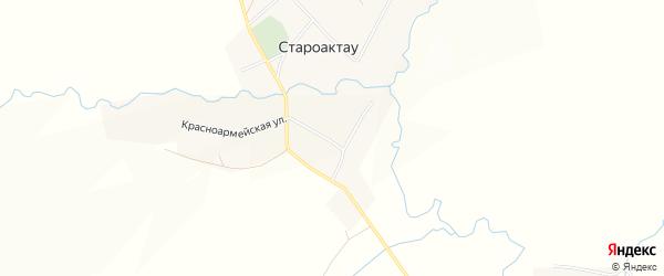 Карта села Староактау в Башкортостане с улицами и номерами домов