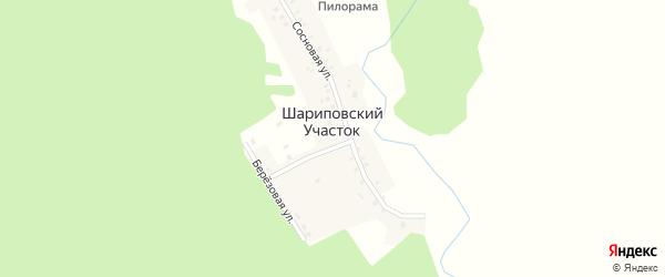 Первая улица на карте деревни Шариповского Участка с номерами домов