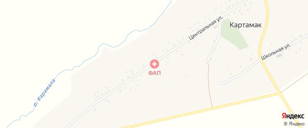 Луговая улица на карте села Картамака с номерами домов