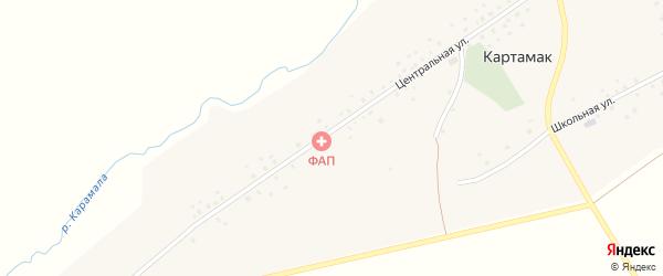Центральная улица на карте села Картамака с номерами домов