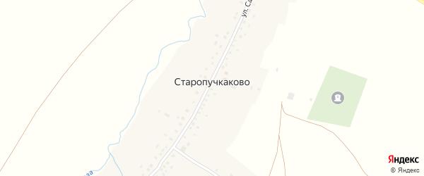 Улица Ш.Салихова на карте села Старопучкаково с номерами домов