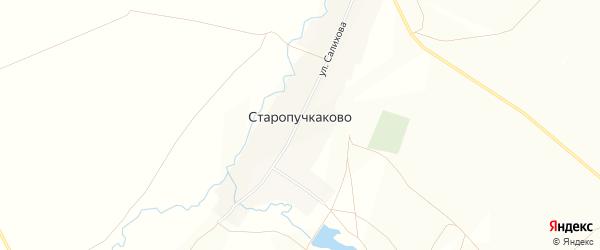 Карта села Старопучкаково в Башкортостане с улицами и номерами домов