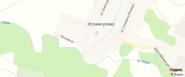 Улица Ш.Бабича на карте деревни Исламгулово с номерами домов