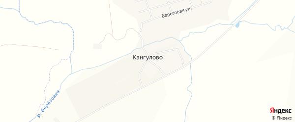 Карта деревни Кангулово в Башкортостане с улицами и номерами домов