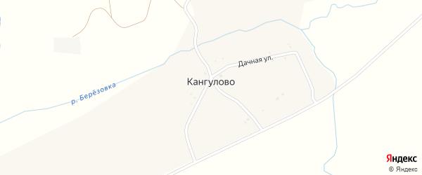 Береговая улица на карте деревни Кангулово с номерами домов