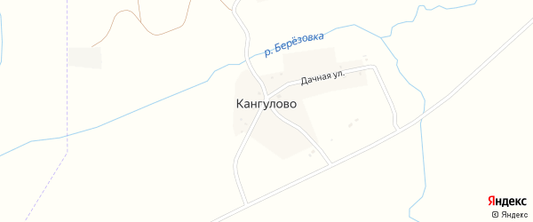 Речная улица на карте деревни Кангулово с номерами домов