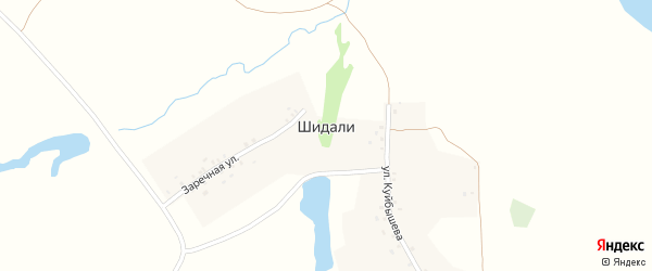 Улица Куйбышева на карте деревни Шидали с номерами домов