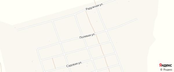Полевая улица на карте деревни Кангулово с номерами домов