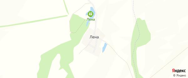 Карта деревни Лены в Башкортостане с улицами и номерами домов