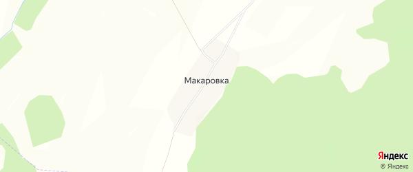 Карта деревни Макаровки в Башкортостане с улицами и номерами домов