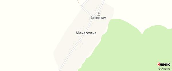 Лесная улица на карте деревни Макаровки с номерами домов