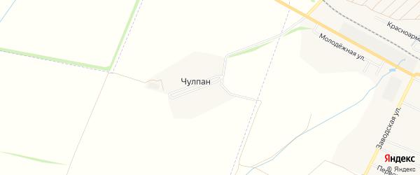 Карта деревни Чулпана в Башкортостане с улицами и номерами домов