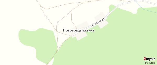Полевая улица на карте деревни Нововоздвиженки с номерами домов